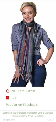 Top christmas gift on Facebook.  Top christmas gift on undefined 201 people likes on Internet. 171 facebook likes. 30 thumbs-up on .undefined anika dali amazon christmas gift. women's jewel dazzle multicolor stripe glamour fashion scarf wrap 5 colors from amazon christmas gifts. http://www.MostLikedGifts.com/top-popular-christmas-gifts/amazom-christmas-gift-B00GWU6LN2-women's-jewel-dazzle-multicolor-stripe-glamour-fashion-scarf-wrap-5-colors