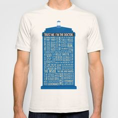 Doctor Who  T-shirt by Luke Eckstein - $18.00