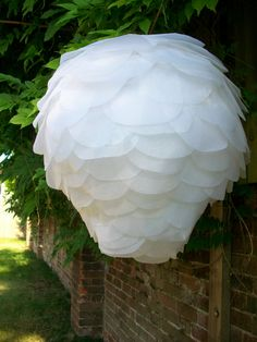 Tissue paper artichoke lantern