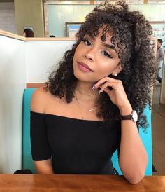 to curly hairstyles hairstyles unique hairstyles tiktok hairstyles on short hair hairstyles with bangs 2019 hairstyles easy hairstyles for 60 year olds hairstyles with curly hair Curly Hair Styles Easy, Cute Curly Hairstyles, Long Curly Hair, Hairstyles With Bangs, Short Hair Styles, Curly Bangs, Curly Haircuts, Curly Hair With Fringe, Black Naturally Curly Hair