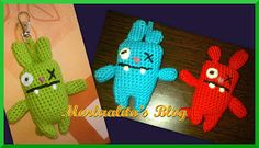 monstruito verde, crochet, ganchillo, ugly bunny charm, amigurimi