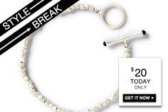 STYLE BREAK! Get the Lara Bracelet for $20. Today only!  Lara Bracelet #kitsylane https://BlkRogue.kitsylane.com//index.php?file=sale=471