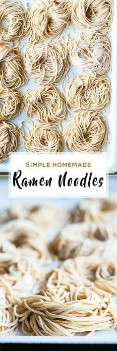 Simple, homemade Ramen Egg Noodles. Store these for up to 2 months or cook them fresh right away. Delicious, inexpensive and so easy to make.
