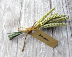 FALL WEDDING PLACE Cards-Autumn wedding place setting-wedding name cards-wheat sheaf place cards-set of 25 on Etsy Fall Place Cards, Rustic Place Cards, Thanksgiving Place Cards, Wedding Table Flowers, Wedding Table Decorations, Autumn Wedding, Rustic Wedding, Trendy Wedding, Wedding Simple