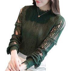 Women Lace Long Sleeve Tops