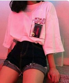 Bild über Mode in es t i l o. ,, – fashion # aesthetic fashion … – The World Edgy Outfits, Mode Outfits, Retro Outfits, Korean Outfits, Grunge Outfits, Vintage Outfits, Girl Outfits, Simple Outfits, Hipster School Outfits