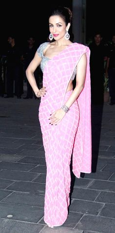 Malaika Arora Khan looked stunning her pink sari at Shirin Morani's wedding reception