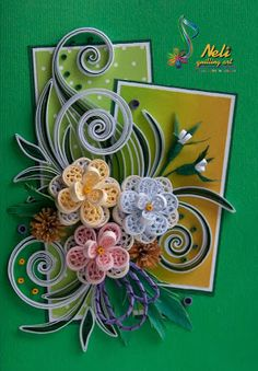 *QUILLING ~ by: neli: Quilling card - ( 10.5 cm - 15 cm )