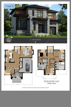 (notitle) The cost reach of the Apartment was amazing. Modern House Floor Plans, Sims House Plans, Modern Exterior House Designs, House Layout Plans, Craftsman House Plans, Modern Architecture House, New House Plans, House Layouts, Two Story House Design