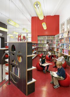 School Design | Educational Spaces |Fun children's library