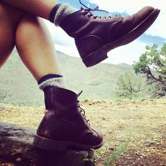 Halfway up the trail. #riogrande #hiking #taos #newmexico #travel #nature #trails #redwing #heritage #boots #fashion