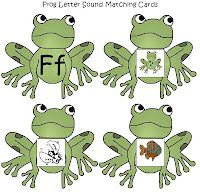 Free frog letter sorting cards