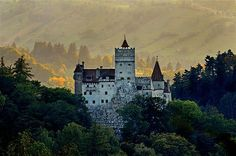 Casa Heidi, located in the heart of the Carpathian Mountains in Transylvania, Romania, and near Dracula's Castle (pictured). It was rated one of the Top 20 Vacation Rentals in Europe by The Guardian.