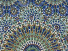 Close-Up of Mosaics in Hassan Ii Mosque, Casablanca, Morocco by Cindy Miller Hopkins. Photographic print from Art.com