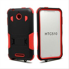 HTC DESIRE 510 CASE, HEAVY DUTY RUGGED HYBRID TRI LAYER ARMOR COVER WITH KICKSTAND (RED) | #cellphonegadgets #mobileaccessories www.kuteckusa.com