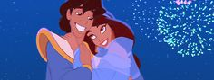Pin for Later: 38 of the Best Disney Kisses of All Time Aladdin and Jasmine, Aladdin