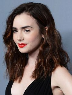 Image result for lily collins hair