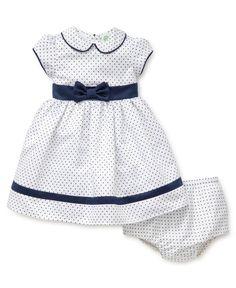 Little Me | Girls Dresses | Pin Dot Dress Set