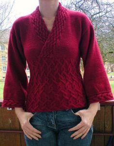 Kimono sweater ravalery pattern