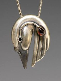 handcrafted cast silver swan totem jewelry animal totems by Brooke Stone