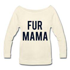BLACK GLITZ PRINT! Fur Mama, Women's Wideneck Shirt