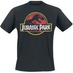 Men& fan shirts - Jurassic Park Classic logo T-ShirtEmp.de Informations About Herrenfanshirts Pin You can easily use m - Vintage Logo, Michael Crichton, Pink Floyd Dark Side, Mode Masculine, Jurassic Park Logo, T Shirt Noir, T-shirt Logo, Gaming Merch, Fan Shirts