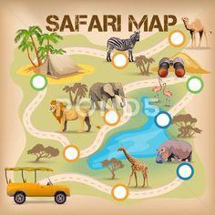 Safari Poster For Game Stock Illustration #AD ,#Poster#Safari#Game#Illustration