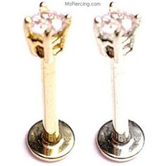 Gold Labret with Round CZ, 18 color:White gold Lip Jewelry, Gold Body Jewellery, Cool Piercings, Facial Piercings, Monroe Piercings, Labret Piercing, Body Piercing, Peircings, Industrial Earrings
