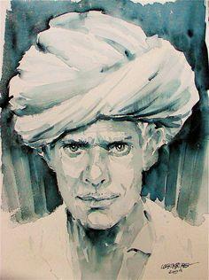 David Lobenberg: Watercolor portraits from ye old Lobenberg archive
