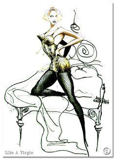 Jean Paul Gaultier design for Madonna's Blonde Ambition Tour