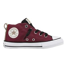 eba173c5a431 Children s Converse Chuck Taylor All Star Street Mid - Dark  Burgundy Black White Slip