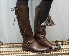 Leather boots, side lacing boot, tall boot laces,brown leather boot, fall, winter, STERLING, brown real leather side lace up boot | SB2