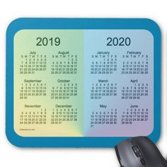 2019-2020 School Year Calendar by Janz Mouse Pad