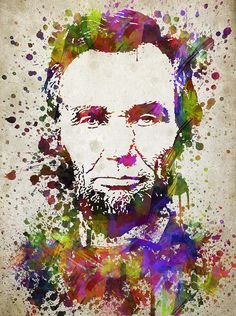 Abraham Lincoln In Color Drawing