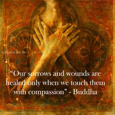 Our sorrows and wounds are healed only when we touch them with compassion. - Buddha