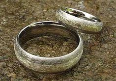 White Gold Inlay Titanium Wedding Rings | LOVE2HAVE UK! Titanium Wedding Rings, Titanium Rings, Gold Wedding Rings, Wire Brushes, One Ring, Types Of Fashion Styles, Jewelry Rings, Rings For Men, Jewelry Making