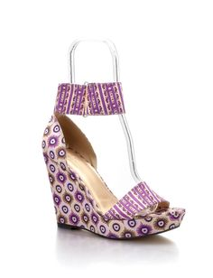 Lilac Mustique Ankle Cuff Wedge