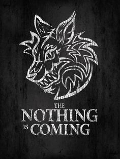 neverending story # the nothing # wolf on Tumblr.   Love this fusion. The Nothing, btw, is one of the scariest creatures in film history, imho.