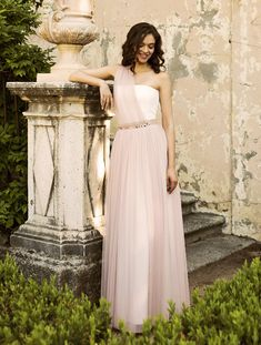 """From our Begga Bridals """"Alma"""" collection. Bridesmaid Dresses, Wedding Dresses, One Shoulder, Bridal, Formal Dresses, Inspiration, Image, Collection, Fashion"""