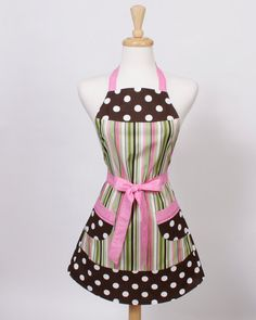We spend our weekends trying out new recipes and love a cute, girly apron to wear around the house.