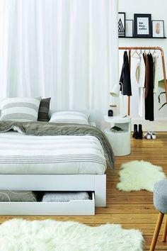 lit 2 places avec sommier et tiroir crawley double duvet set double bed