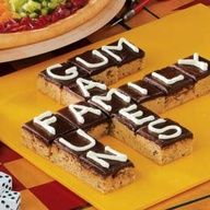 Scrabble Brownies (Game night food)