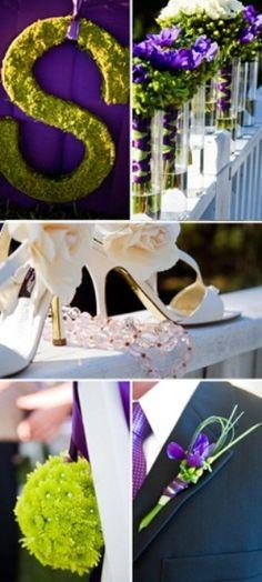 Purple + Green wedding in North Carolina