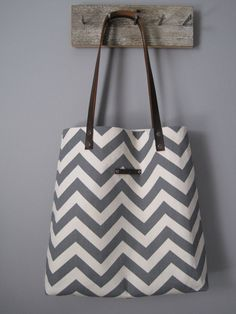 chevron tote bag   tote shoulder bag   modern by FORTRESSco 40643272b3cc0