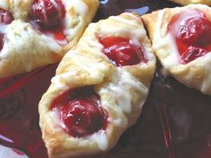 Easy cherry cheese danish, wonder if I could use crescent rolls instead of puff pastry?