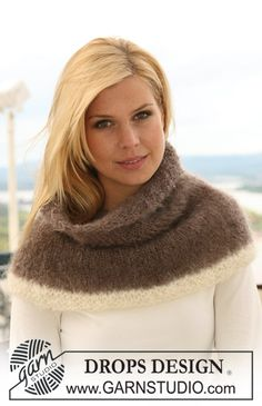 "DROPS 122-16 - Knitted DROPS neck warmer in ""Vienna"". - Free pattern by DROPS Design"