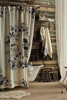 Anthropologie Kojani Sketch Shower Curtain #AnthroFave