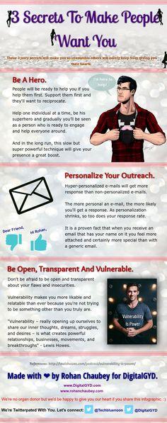 3 Secrets To Make People Like You Online