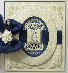 Dress a Die Cut frame using an Embossing Folder Design