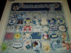 January magnetic calendar